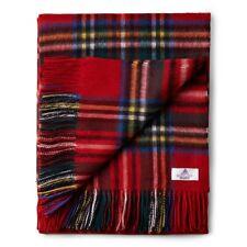 House of Scotland 100% Lambswool Scottish Tartan Blanket/Throw - Royal Stewart