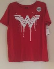 Ladies Wonder Woman Logo White DC Comics TShirt Medium 7-9 Shirt Batman V Superm