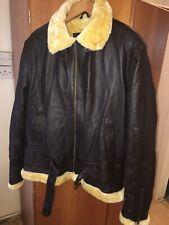 Cuero chaqueta de vuelo Mediano