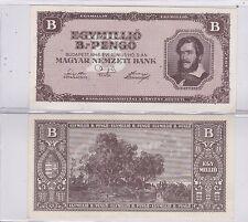KAPPYS ID10233 HUNGARY 1946 INFLATION 1,000,000,000,000,000,000 PENGO BANK NOTE