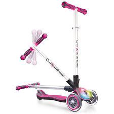 Globber Elite 3 Wheel Folding Adjustable Height Scooter with LED Lights (Pink)