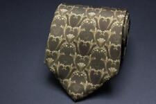 VERSACE Silk Tie. Brown Baroque Medusa Design.