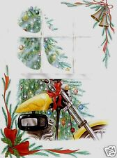 Motorcycle Christmas Greeting Cards with Harley Davidson looking Graphics