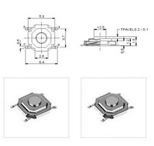 10 St SMD SUB-Miniatur-Taster Neu superflach kein Porto