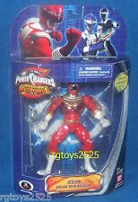 "Power Rangers Zeo Red Ranger Metallic New 6"" Factory Sealed Operation Overdrive"