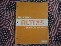 1983 1984 1985 1986 Suzuki ALT125 Service Repair Shop Manual FACTORY OEM WORN