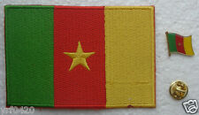 Cameroon National Flag Pin and Patch Embroidery