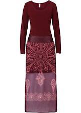 Originelles Kleid Gr. 44 Rot Damen Maxikleid Abendkleid Cocktailkleid Neu
