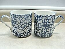 2 GIBSON HOUSEWARES Spongeware Splatterware COFFEE CUP TEA MUGs