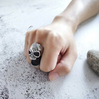 Punk Men Skull Rings Gothic Skeleton Scar Jaw Stainless Steel Beer Bottle Opener