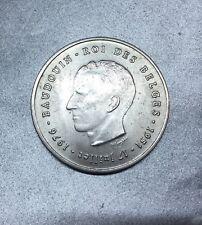 250 FRANCS 1976 BELGIQUE BELGIEN Jubilé d'ARGENT ROI BAUDOUIN MONNAIE EN ARGENT