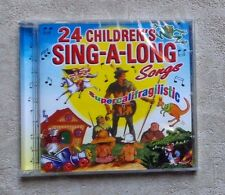 "CD AUDIO MUSIQUE / 24 CHILDREN'S SING-A-LONG SONGS""  CD COMPILATION 2003 NEUF"