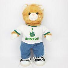 "I Love Boston Build-a-Bear Plush Orange Kitten 19"" w/ shoes/jeans/shirt Cute!"