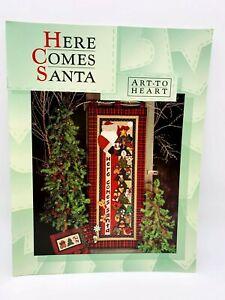 Here Comes Santa by Nancy Halvorsen Vintage Applique Quilt Pattern Book