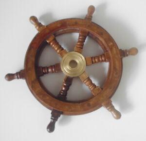 Steuerrad Antik Schiffsteuerrad 30cm Schiff Piraten Deko Boot Holz