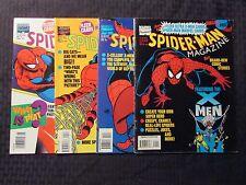 1994 SPIDER-MAN Magazine #1 3 4 5  LOT of 4 FN-/FVF w/ Fleer Cards X-MEN