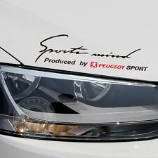 Headlight Sports Mind Decal Vinyl Car Stickers for PEUGEOT Auto Exterior Modify