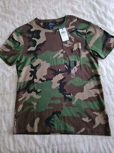 Polo Ralph Lauren mens camouflage green t shirt size M custom slim fit brand new