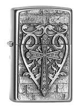 Zippo Lighter ● Used Cross Heart Kreuz Emblem ● 2003987 ● Neu New OVP ● A133