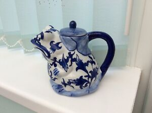 Blue And White Frog Teapot