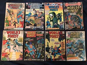 WORLD'S FINEST COMICS (Batman/Superman) Lot of 8: #143,167,174,182,190,194,233..