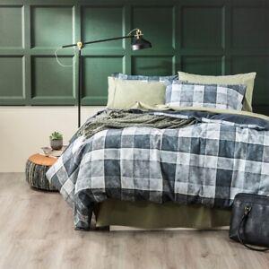 Park Avenue 175 GSM Egyptian cotton Flannelette Quilt Cover set Checkered