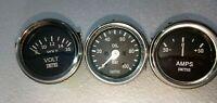 Smiths-52mm-Kit Oil Pressure Gauge Volt Gauge Ampere Ampere --Black