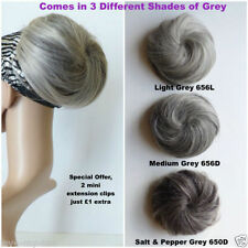 Extensions de cheveux gris pour femme