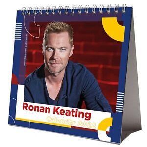Ronan Keating 2022 Desktop Calendar NEW Desk 12 Months Pretty Man