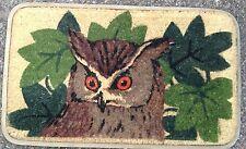 Coir Doormat.Owl.Rubber Backed Deluxe  Quality