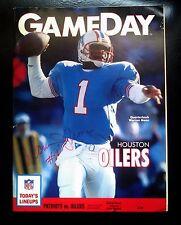 Houston Oilers  Warren Moon Autograph GameDay