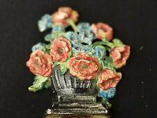 Hubley Cast Iron Doorstop #265 Poppies & Cornflowers Original Rare Find