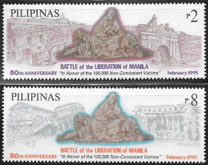 Philippines 1995 50th Ann. Battle of the Liberation of Manila - 2xstamps - MNH