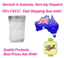 Ball Wide Mouth Pint Mason Jars Case of 12 (500ml)