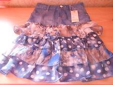 jupe en jean avec volants bleu/gris taille 8 ans - neuf