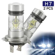 2X H7 LED Fog Tail Lamp 100W Car Head Light Bulb Super Bright CREE 6000K White