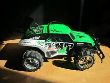 New Bright RC Car Baja Extreme TNT Green/White Replacement Body and wheels as is