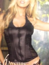 Sexy Leg avenue Black Corset Leather Look With Mesh Medium New Tags Valentines
