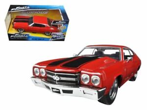 1:24 Dom's Chevy Chevelle SS Red -- Fast & Furious Chevrolet JADA