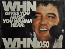 ELVIS PRESLEY 1970s NY RADIO WHN 1050 ORIGINAL PROMO POSTER NYC SUBWAY 45X60