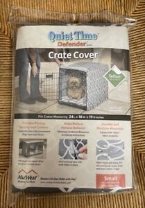 Quiet Time Mid West Dog Crate Cover 28 x 18 x 19 Grey and White NIP
