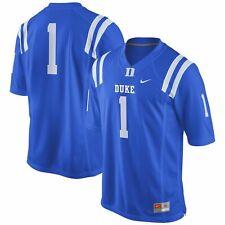 Nike Duke Blue Devils Men's #1 Game Football Jersey Large  NWT