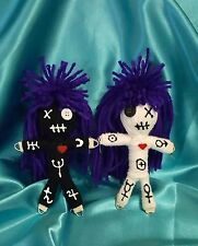 Authentic Voodoo doll Pair Astrology 7 pins guide hand made karma new orleans