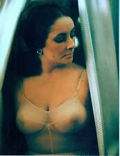 RARE STILL ELIZABETH TAYLOR SEE THROUGH TOP COLOR