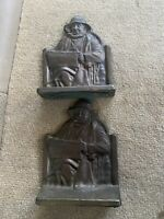 Connecticut Foundry CAPE COD FISHERMAN Nautical Bookends Vintage Metal