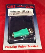 NOS QVS Quality Value Service PS/2 to USB Adapter USB Type A M/Mini6 F Free Ship