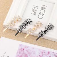 Letters Hair Pin Hair Accessories Crystal Barrettes Rhinestone Head wear