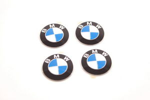 BMW 5 6 7 8 Series OEM Genuine Wheel Center Hub Emblem Sign Logo Stickers x4 SET