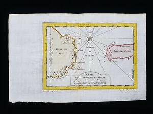 1754 J.N. BELLIN: SOUTH AMERICA, TIERRA DEL FUEGO, LE MAIRE STRAIT, BAHIA THETIS