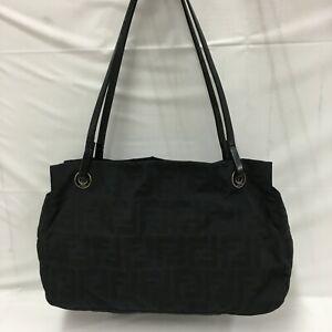 Auth Fendi Zucca Mini Tote Bag canvas black From Japan 0717*2196
